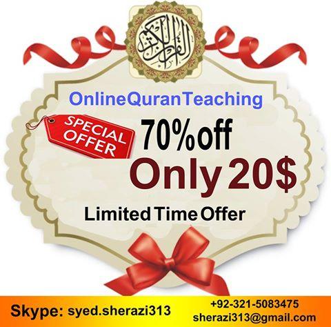 discount offer online quran teaching
